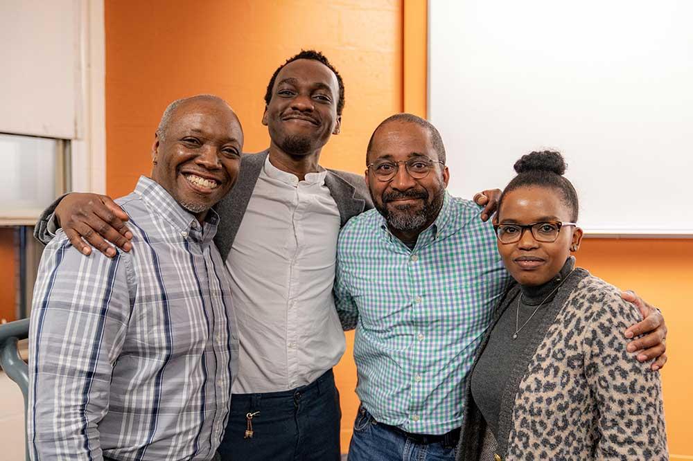 Panelists at the Khoury Black History Month celebration      Panelists at the Khoury Black History Month celebration