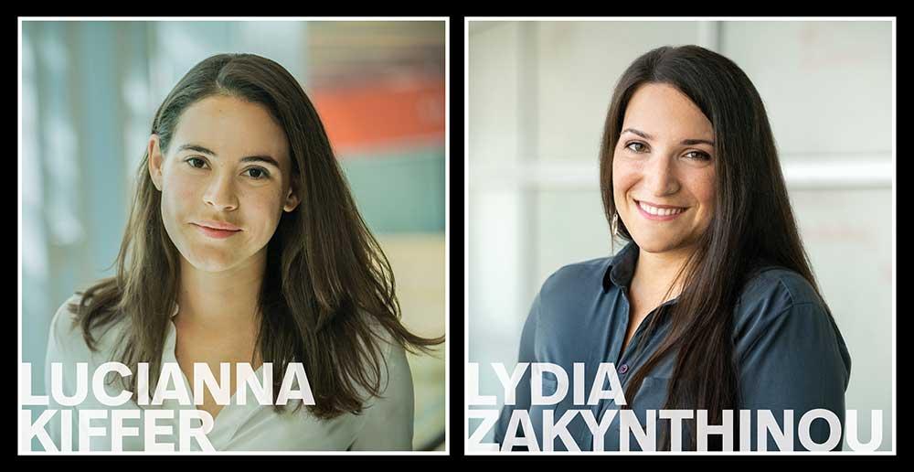 """Lucianna """"Lulu"""" Kiffer and Lydia Zakynthinou"""