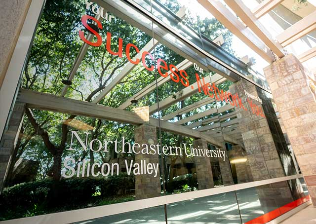 A view of the Silicon Valley building