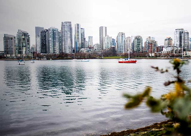 A scene in the city of Vancouver