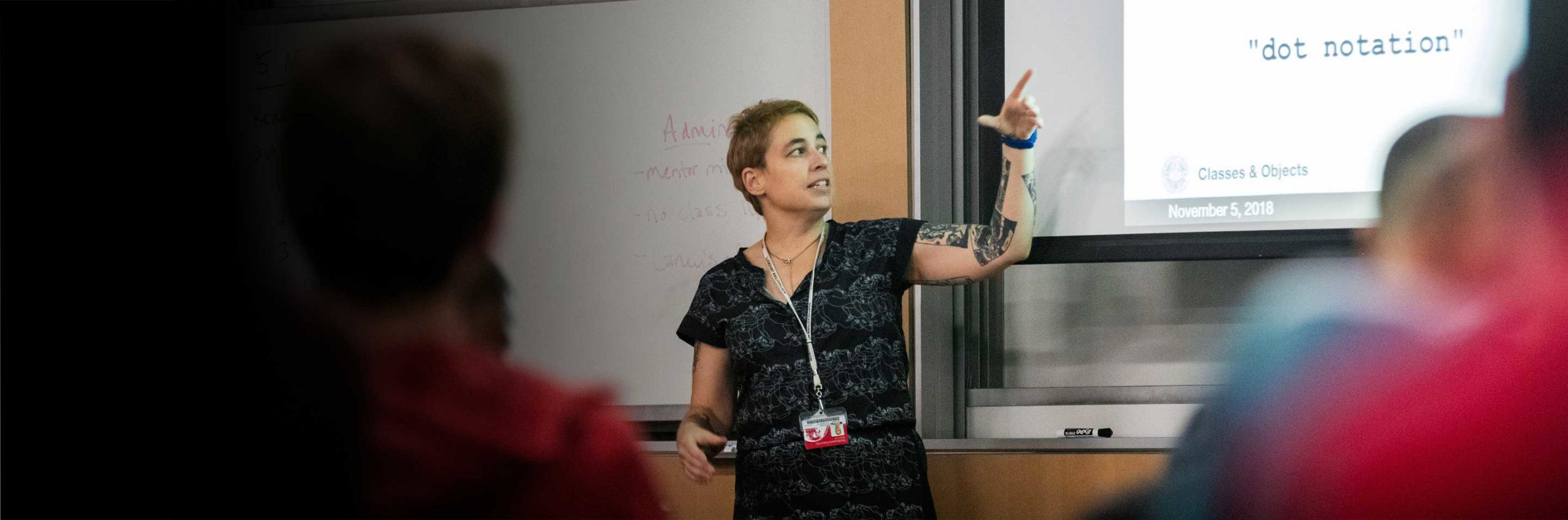 A faculty member teaches a class