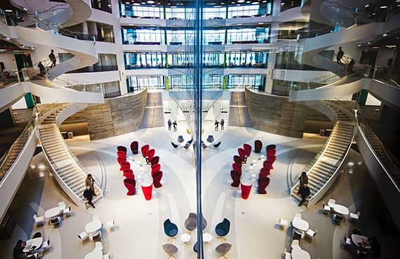 The interior of ISEC