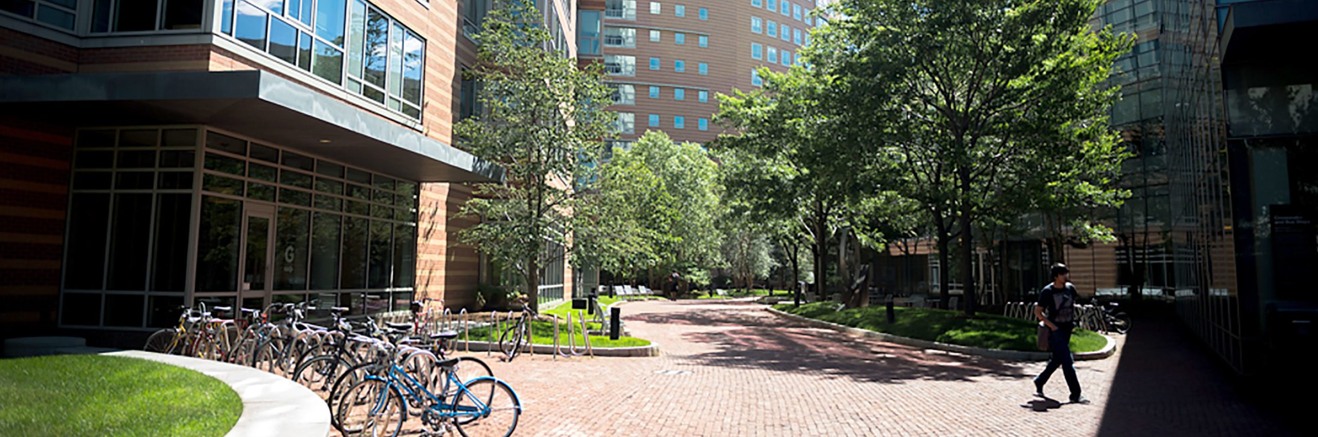 A view of West Village at Northeastern's Boston campus
