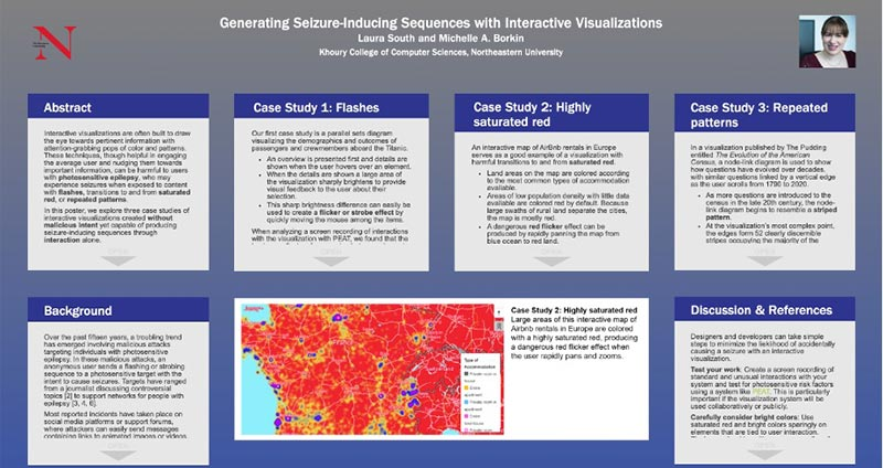 Generating seizure-inducing sequences with visualizations poster