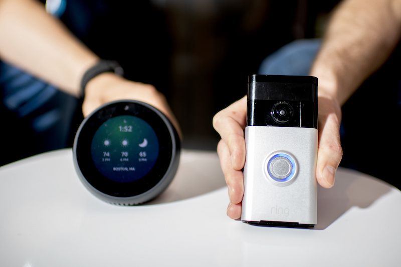 Smart thermostat and doorbell in the CPI lab